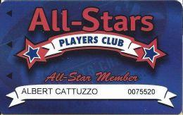 Baldini´s Sports Casino Sparks NV - All-Star Member Slot Card (Printed) - Casino Cards