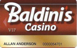Baldini´s Sports Casino Sparks NV - 10th Issue VIP Slot Card - Casino Cards