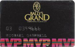 Bally's Grand Casino Atlantic City NJ MVP Slot Card (Data Card PA) - Casino Cards