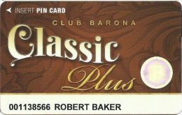 Barona Casino Lakeside CA Slot Card - Last Line Reverse Starts With 'must' - Casino Cards