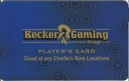 Becker Gaming Casino Slot Card Gooat At Charlie's Bars Locations In Las Vegas NV - Casino Cards