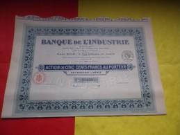 BANQUE DE L´INDUSTRIE (1913) - Actions & Titres