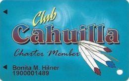 Cahuilla Creek Casino Anza CA Charter Member Slot Card - Casino Cards