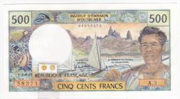 "Polynésie Française - 500 FCFP - Mention ""PAPEETE"" Au Verso - A.3 / Roland-Billecart / Waitzenegger - Papeete (French Polynesia 1914-1985)"