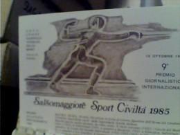 SCHERMA SPORT CIVILTA 9° PREMIO SALSOMAGGIORE 1985 A MAURO NUMA CAMPIONE E CARABINIERE  N1985  FC6315 - Fencing