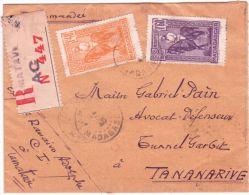 1940- Enveloppe RECC. De TAMATAVE  , Affr. à 3,00 F   Pour  Tananarive  ( Courrier Local ) - Madagascar (1889-1960)