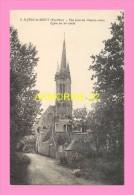 CPA   SAINT JEAN DU DOIGT Vue Prise Du Chemin Creux  EGLISE - Saint-Jean-du-Doigt