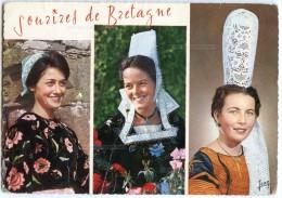 Coiffes Et Costumes De POULDERGAT Près Douarnenez, De QUIMPER Et De St-GUÉNOLÉ PENMARC'H- écrite Non Timbrée - 2 Scans - Fouesnant