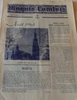 """25 Déc. 1945 - """"MAQUIS COMTOIS"""" - N° 20 - NOËL 1945 - Chef De Bataillon LE HENRY, Commandant Le 1/159° R.I.A. - Documentos Históricos"""