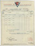 Facture  Ets Fromageries BEL ( Vache Qui  Rit) àParis Pour Fillefranche De Rouergue Le 31 Juillet 1952 - France