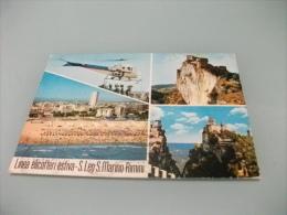 STORIA POSTALE FRANCOBOLLO COMMEMORATIVO SAN MARINO LINEA ELICOTTERI ESTIVA S. LEO S. MARINO RIMINI - Elicotteri