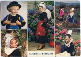La Bretagne - Garçon Costume De Quimper, Costumes De Bannalec, Plougastel-Daoulas, Quimper - écrite Et Timbrée - 2 Scans - Quimper