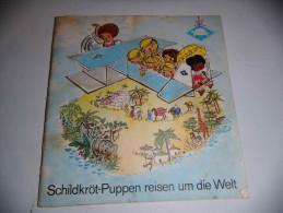 Vecchio Libro Tedesco Schildkröt-Puppen Reisen Um Die Welt Altes Buch Old Book - Racconti E Leggende