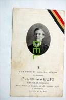 Guerre 14-18  Jules Dubois Né à Tavier 29-5-1889, Mort Patrie à Hansbeck 28-10-1918, Habite Probablement à Ellemelle Av - Anthisnes