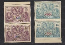 Belgisch Congo 1936 Gedenkteken Koning Albert 2w (paar)  ** Mnh (26374A) - Belgisch-Kongo