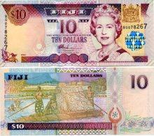 FIJI 10 Dollars (2002) P-106a **UNC** - Fidji