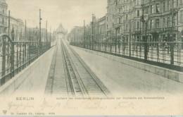 Berlin 1903: Auffahrt Der Elekrischen Untergrundbahn Zur Hochbahn Am Nollendorfplatz - Gelaufen. (Trenkler - Leipzig) - Schoeneberg