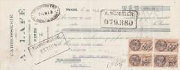 Lettre Change 23/7/1928 A LAFE Carrosserie Automobile NIMES Gard Pour St Hippolyte Du Fort - Lettres De Change