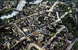 Cp Saarbrücken Im Saarland, Luftaufnahme, Saar, Stadtviertel, Hauptstraßen - Germany