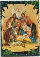 La Nativité  - Des Bergers Et Têtes Ailées En Adoration Devant Jésus - Marie Joseph, Mouton, âne - Non écrite - 2 Scans - Autres