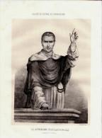 1845 - Lithographie Originale - Jean-Baptiste-Henri Lacordaire (Recey-sur-Ource 1802 - Sorèze 1861) - FRANCO DE PORT - Prints & Engravings