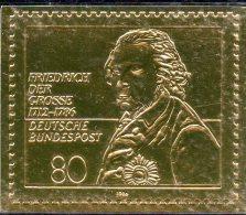 Deutschland Edition Raritäten In Gold BRD # 1292 ** 50€ Mit 23 Karat Feingold 1986 König Friedrich History Stamp Germany - BRD