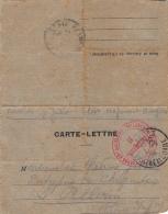 CARTE-LETTRE Postée ANGERS (49) Pour LE PELLERIN (44) - 1919 - Autres