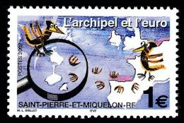 ST-PIERRE ET MIQUELON 2002 - Yv. 773 **   Faciale= 1,00 EUR - L'archipel Et L'Euro ..Réf.SPM11010 - Neufs