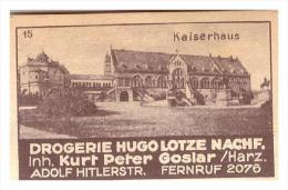 Altes Etikett Von Streichholzschachtel ,um 1940 , Hugo Lotze In Goslar !!! 56x35mm , Streichhölzer - Zündholzschachteln