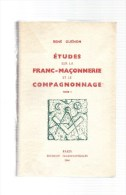 études Sur La Franc-maçonnerie Et Compagnonnage.tome 1er.René Guénon.314 Pages.1964. - Geheimleer