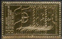 Deutschland Edition Raritäten In Gold BRD #1034 ** 50€ Mit 23 Karat Feingold 1980 Bündnis NATO Military Stamp Of Germany - NATO