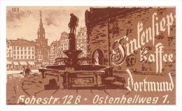 Altes Etikett Von Streichholzschachtel ,um 1940 , Finkensiep Kaffee , Dortmund !!! 56x35mm , Streichhölzer , Matchbox - Zündholzschachteln