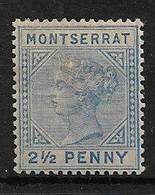 MONTSERRAT 1884 2½d SG 10 MOUNTED MINT Cat £29 - Montserrat