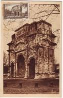 CARTE MAXIMUM ARC DE TRIOMPHE D' ORANGE N° 389 Obl Oranges Vaucluse - Marcofilia (sobres)
