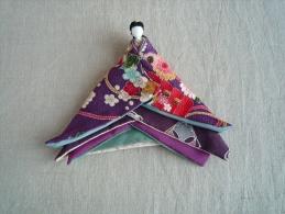 Poupée  Japonaise Tradition Hina Tissu Crêpe Et Soie. Voir Photos. - Bambole