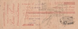 Lettre Change 14/9/1922 PERRIER Excelsior Citron Kina Bébé Distillateur St HIPPOLYTE Du FORT Gard Pour Villefort Lozère - Bills Of Exchange