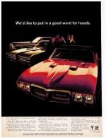 PONTIAC GTO PUBLICITE ISSUE D´UN MAGAZINE 1969 FORMAT 20.5 X 27.5 USA - Publicités