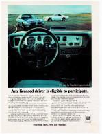 PONTIAC FIREBIRD PUBLICITE ISSUE D´UN MAGAZINE 1970 FORMAT 20.5 X 28 USA - Advertising