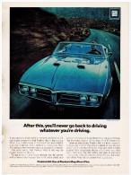 PONTIAC FIREBIRD 400 PUBLICITE ISSUE D´UN MAGAZINE 1967 FORMAT 20 X 28 USA - Publicités