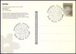 Slovenija 1999 Idrija Lace Embroidery Postcard With Stamp And Special Pmk B151202 - Textile