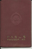 F. N. R. YUGOSLAVIA  ---  PASSPORT  ---   1961  --   FUL OF VISAS   --  8 X  FRANCE, ITALIA, AUSTRIA, DEUTSCHLAND, - Historical Documents