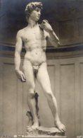 Firenze - Cartolina Antica DAVID Di MICHELANGELO - OTTIMA L85 - Sculture