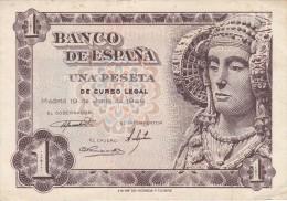 BILLETE DE 1 PTA DEL AÑO 1948 SERIE I CALIDAD MBC   DAMA DE ELCHE  (BANKNOTE) - [ 3] 1936-1975 : Régence De Franco