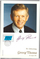 Germany 1988  Georg Thoma Ski Skiing 50th Birthday - Skisport