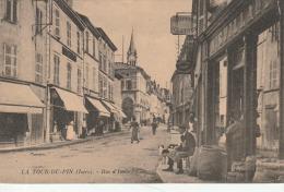 La Tour Du Pin  Rue D'italie Carte De Carnet - La Tour-du-Pin