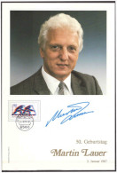 Germany 1987 Martin Lauer Atletic 50th Birthday - Atletismo