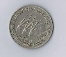 Afrique équatoriale 50 FRANCS 1963 Banque Centrale REP. CENTRAFRICAINE CONGO GABON TCHAD ANIMAL - Monnaies