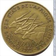 Central Africa (BEAC) 25 Francs, 1975 -  Aluminium-Bronze -Coin - Monnaies