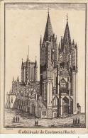 Carte Publicitaire Pour Imprimerie Lithographie Morice à Coutances Carte De Visite Lettre .... - Advertising