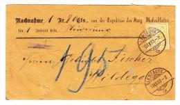 Heimat AG Lenzburg 18.9.1883 Mit 15Rp. Ziffer Auf NN Brief Nach Wildegg - 1882-1906 Armoiries, Helvetia Debout & UPU